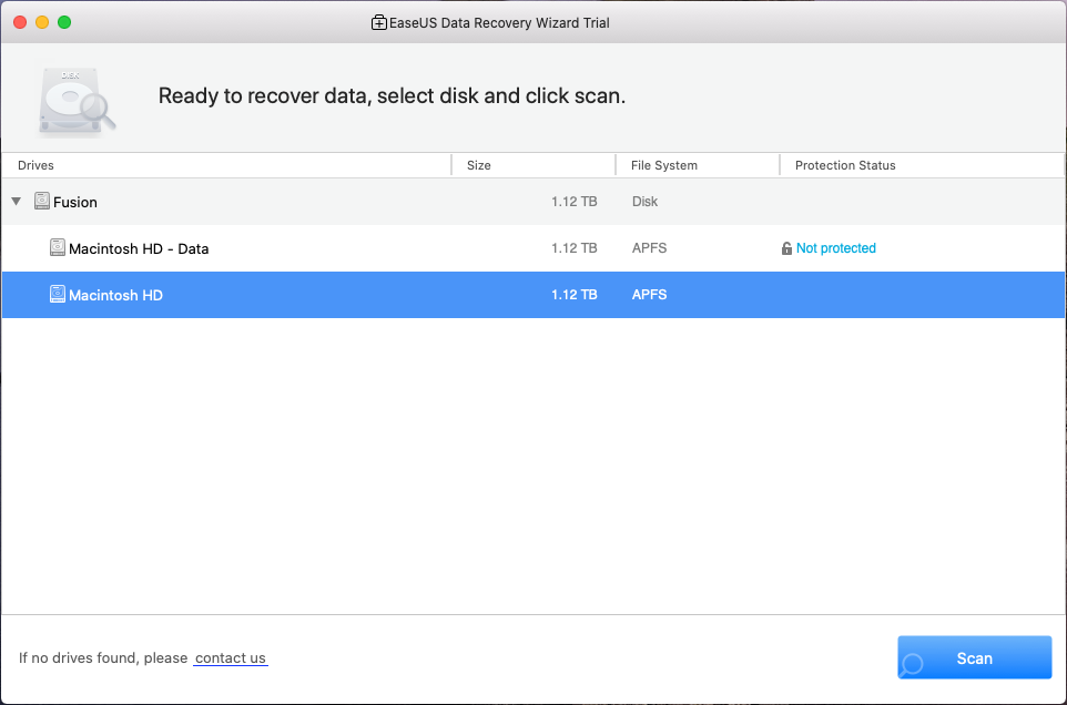 EaseUS Data Recovery Wizard for Mac (ver. 12.0)