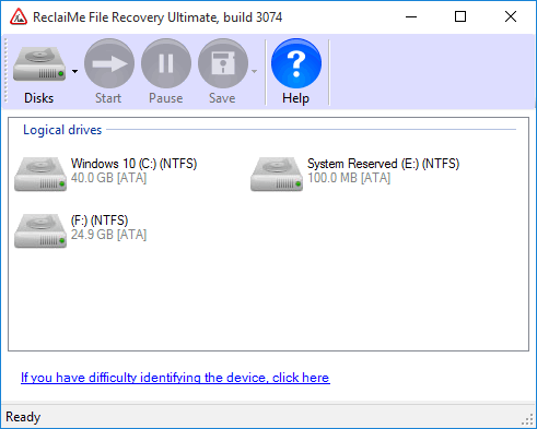 ReclaiMe file recovery (ver. 3074)